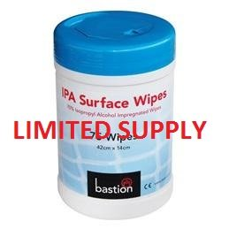 Bastion Surface Wipes - ISO Alcohol (75)