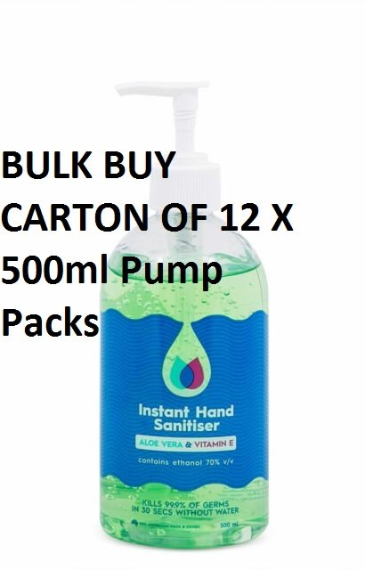 CleanPlus Instant Hand Sanitise 500mlx12