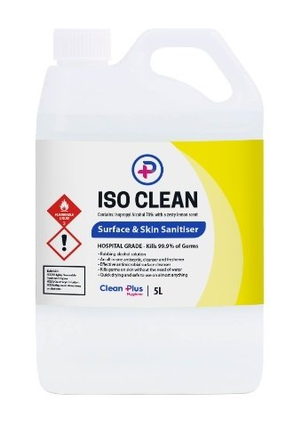 Iso Clean Surface and Hand Sanitiser 5L