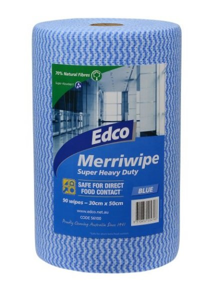 Edco Merriwipe 90 Sheets Blue 56100 Roll