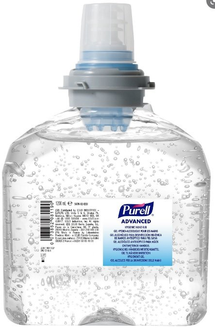 Purell TFX Gel Hand Sanitiser - 1200ml