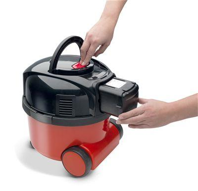 Numatic Henry Battery Vacuum Cleaner Red