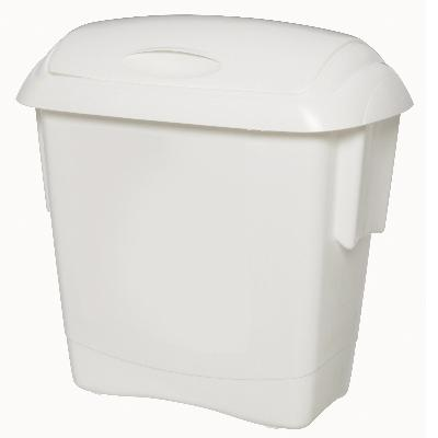 White Kitchen Bin kitchen bin small 13litres white oates - bins, kitchen bins