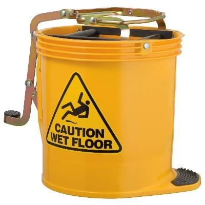 Oates Contractor Wringer Mop Bucket Blue Janitorial