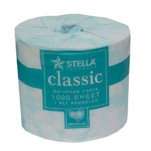 1000 Sheet Toilet Paper 1 ply x 48 Rolls