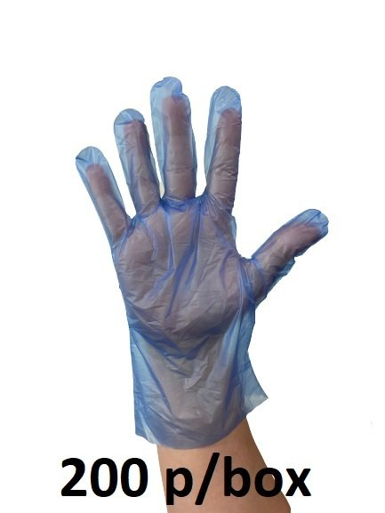 GLOVE Hybrid Blue Powder Free X-Large