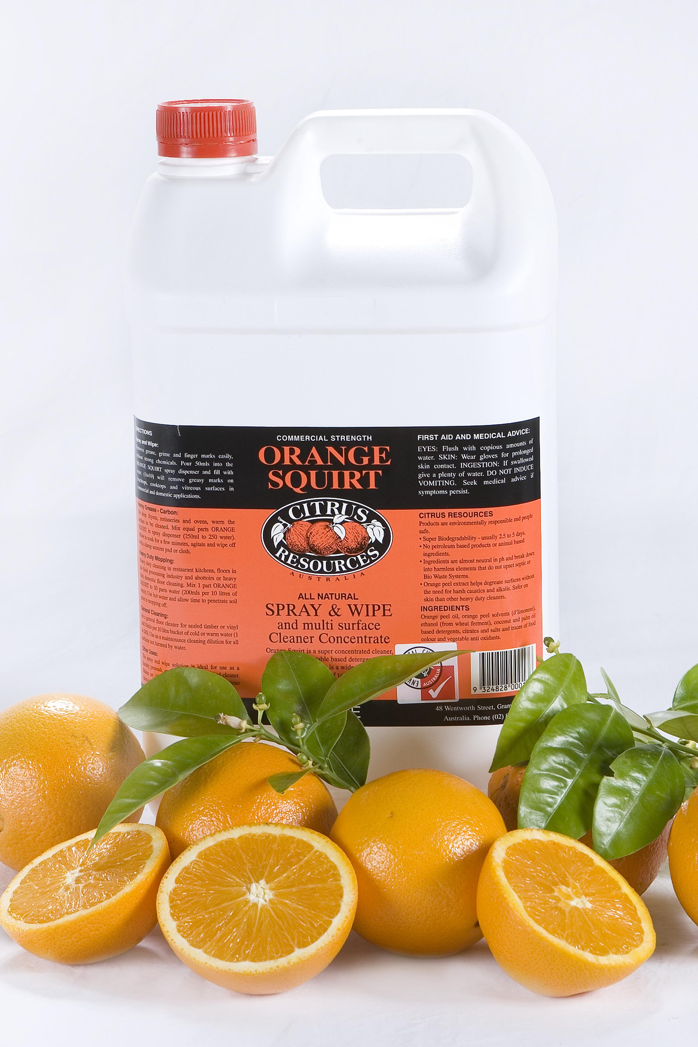 Citrus Resources Orange Squirt 5l Chemical Citrus