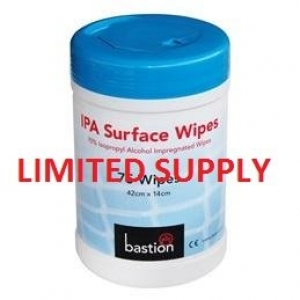 Bastion Surface Wipes - ISO Alcohol (75) - Click for more info