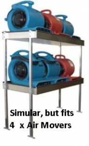 Van Shelving 2 Shelf 4 Airmovers - Click for more info