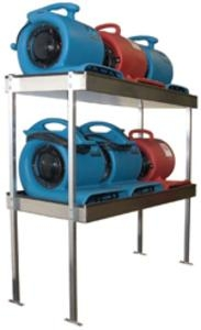 Van Shelving 2 Shelf 6 Airmovers - Click for more info