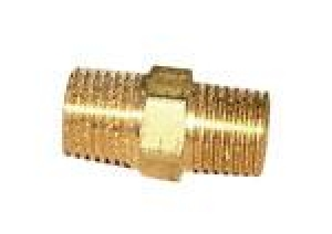 Brass Hex Nipple 1/4 x 1/4 - Click for more info