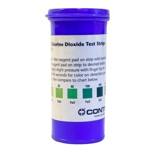 Contec Chlorine Dioxide Test Strips 25pk - Click for more info