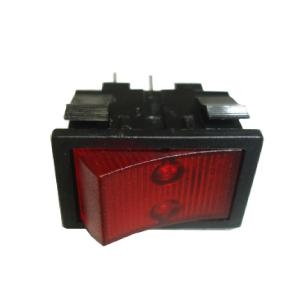 Covered Rocker Switch Red