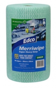 Edco Merriwipe 90 Sheets Green 56101 - Click for more info