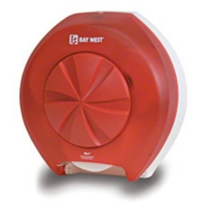 Baywest OptiCore Toilet Paper Disp Red - Click for more info