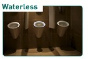Wave Urinal Screen Cotton Blos/ Soft Lin