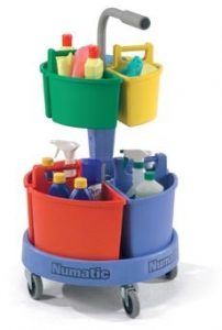 Numatic Carousel NC-4 Cleaners Trolley - Click for more info