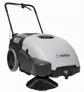 Nilfisk SW750 Battery WalkBehind Sweeper - Click for more info