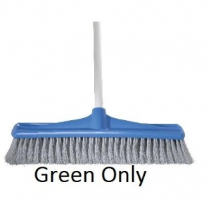 Oates Broom Soft Fill W/Handle GRN 45cm - Click for more info