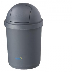 Oates Domed Bin Grey 28L - Click for more info
