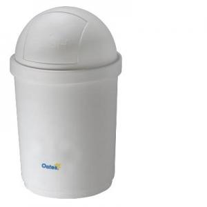 Oates Domed Bin White 28L