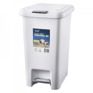 30L Push / Pedal Bin - White - Click for more info