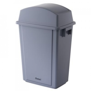 Oates Flip Top Bin Thin & Grey 40L - Click for more info