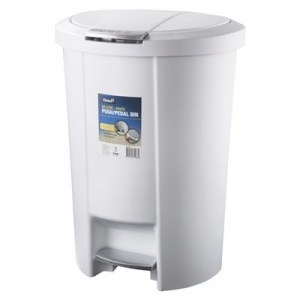 50L Push / Pedal Bin - White - Click for more info
