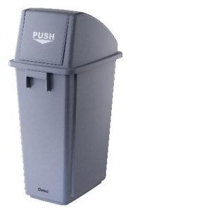 Oates Flip Top Bin Thin & Grey 58L - Click for more info