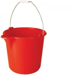 Oates Bucket Wire Handle 12L Red - Click for more info