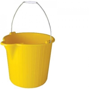 Oates Bucket Wire Handle 12L Yellow - Click for more info