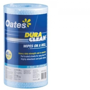 Oates Durawipe on a Roll 45m Blue - Click for more info