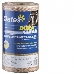 Oates Durawipe on a Roll 45m Brown - Click for more info