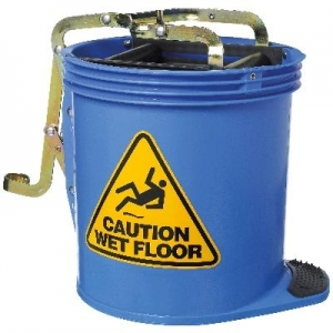Oates Contractor Wringer Mop Bucket Blue