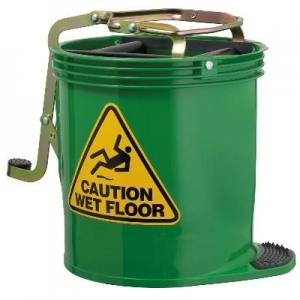 Oates Contractor Wringer Mop Bucket Grn - Click for more info