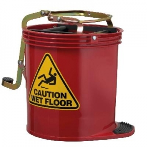 Oates Contractor Wringer Mop Bucket  Red - Click for more info