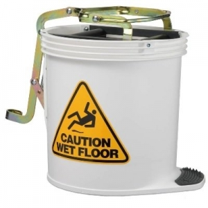 Oates Contractor Wringer Mop Bucket Wht - Click for more info