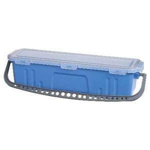 Oates Flat Mop Bucket with Lid Blue 60cm