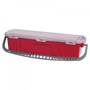 Oates Flat Mop Bucket with Lid Red 60cm
