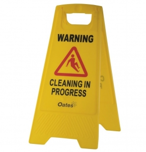 Cleaning In Progress A Frame Sign