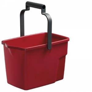 Oates Squeeze Mop Bucket Red
