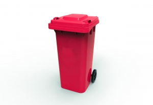 120L Wheelie Bin Red - Click for more info