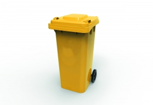 120L Wheelie Bin Yellow - Click for more info