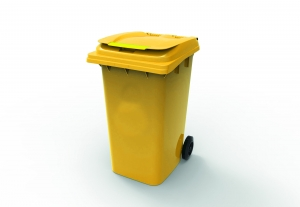240L Wheelie Bin Yellow - Click for more info