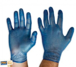 Vinyl Blue Gloves