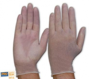 Vinyl Gloves Disposable Clear (100) Smal - Click for more info