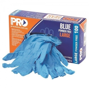 GLOVE Pro Choice Blue Nitrile Medium - Click for more info