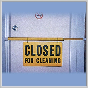 Closed for Cleaning Safety Pole Extend - Click for more info