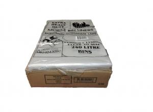240L Garbage Bags Clear Premium 100/Ctn