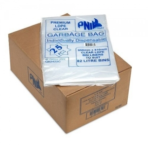82L Garbage Bags Clear Premium 250/Ctn